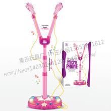 粉色音乐麦克风 卡啦OK机玩具 儿童唱歌话筒乐器玩具