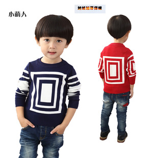 Meng People Korean winter thick cotton children's clothing boy sweater children sweater boy sweater factory direct g