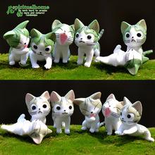 苔藓微景观装饰摆件 多肉花盆配 饰可爱卡通 新款起司猫 玩