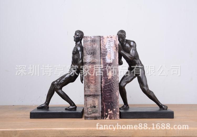 2016新品树脂工艺品批发 人物书立 书档 书靠 家具厂4015309rt