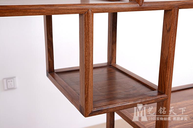 红木家具刺猬紫檀古董架 花梨木简单博古架 实木多宝阁格中式仿古