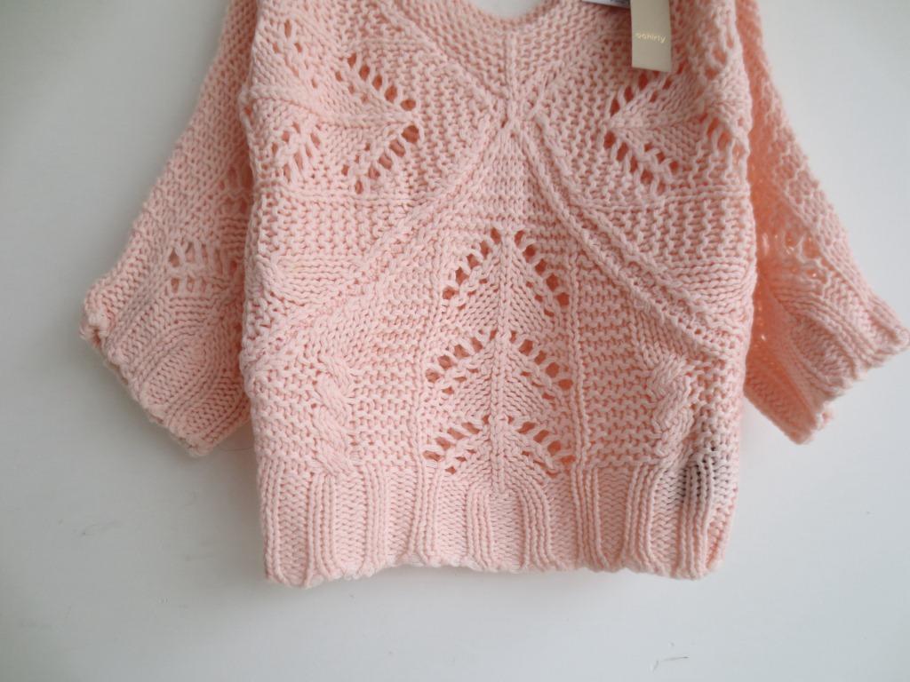 原单手工棒针编织镂空针织外套镂空针织衫