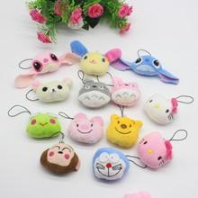 毛绒玩具悠嘻猴 轻松熊 青蛙 龙猫头DIY公仔创意饰品配件娃娃多款