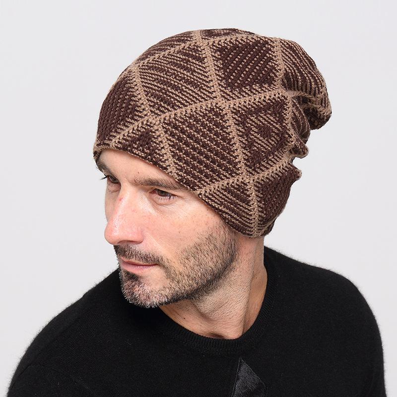 New Men s Winter Hats Beanie for Women Outdoors Cap Bonnet Men Twist ... ce8c75ee919