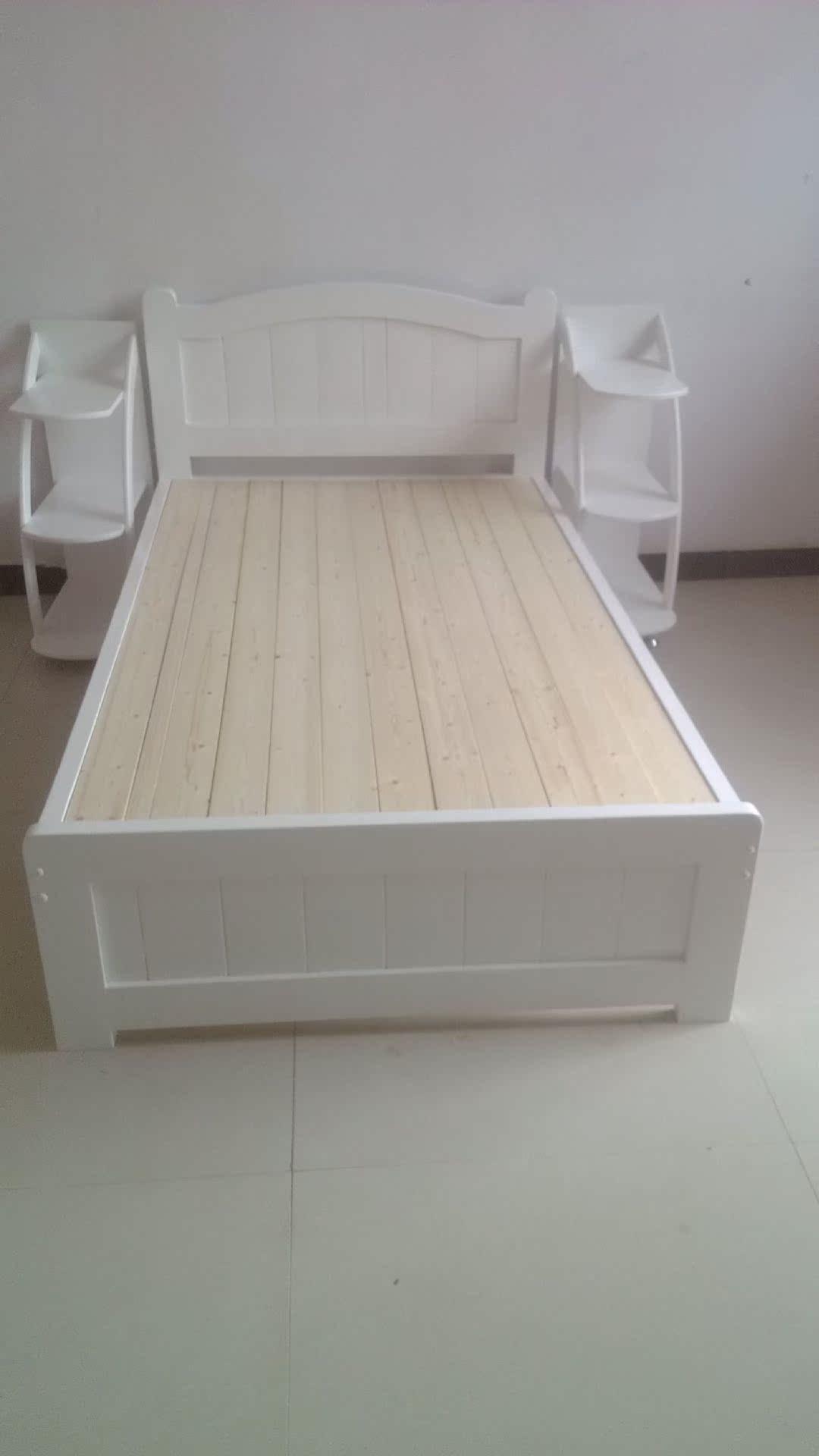 【厂家直销】实木特价单人双人床欧式简约学校儿童环保平板床家具图片