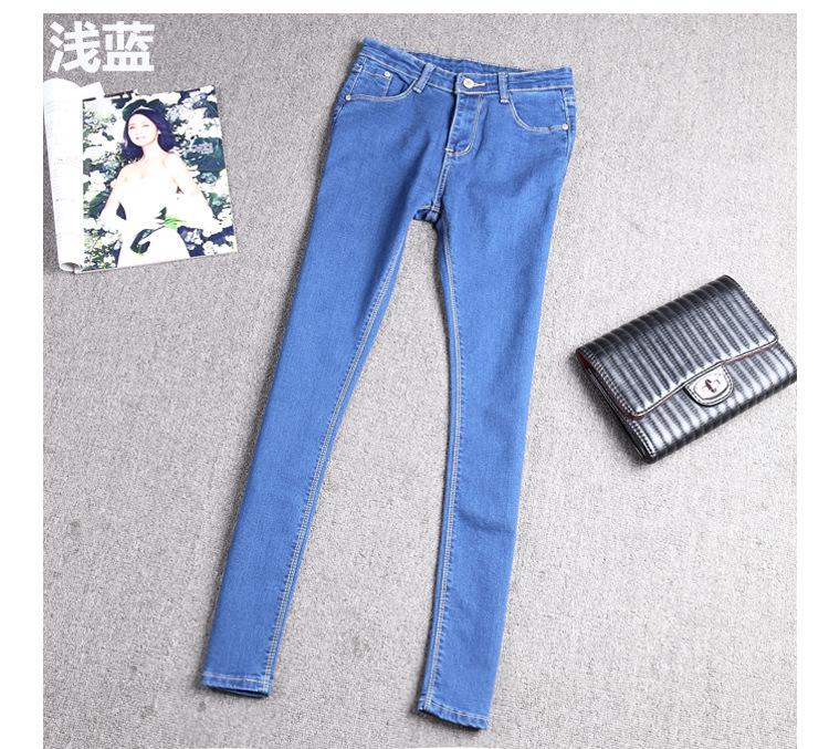 女韩版潮学生弹力af2017 古田森jeans增致威鹏lzk第五街nzk牛仔裤图片