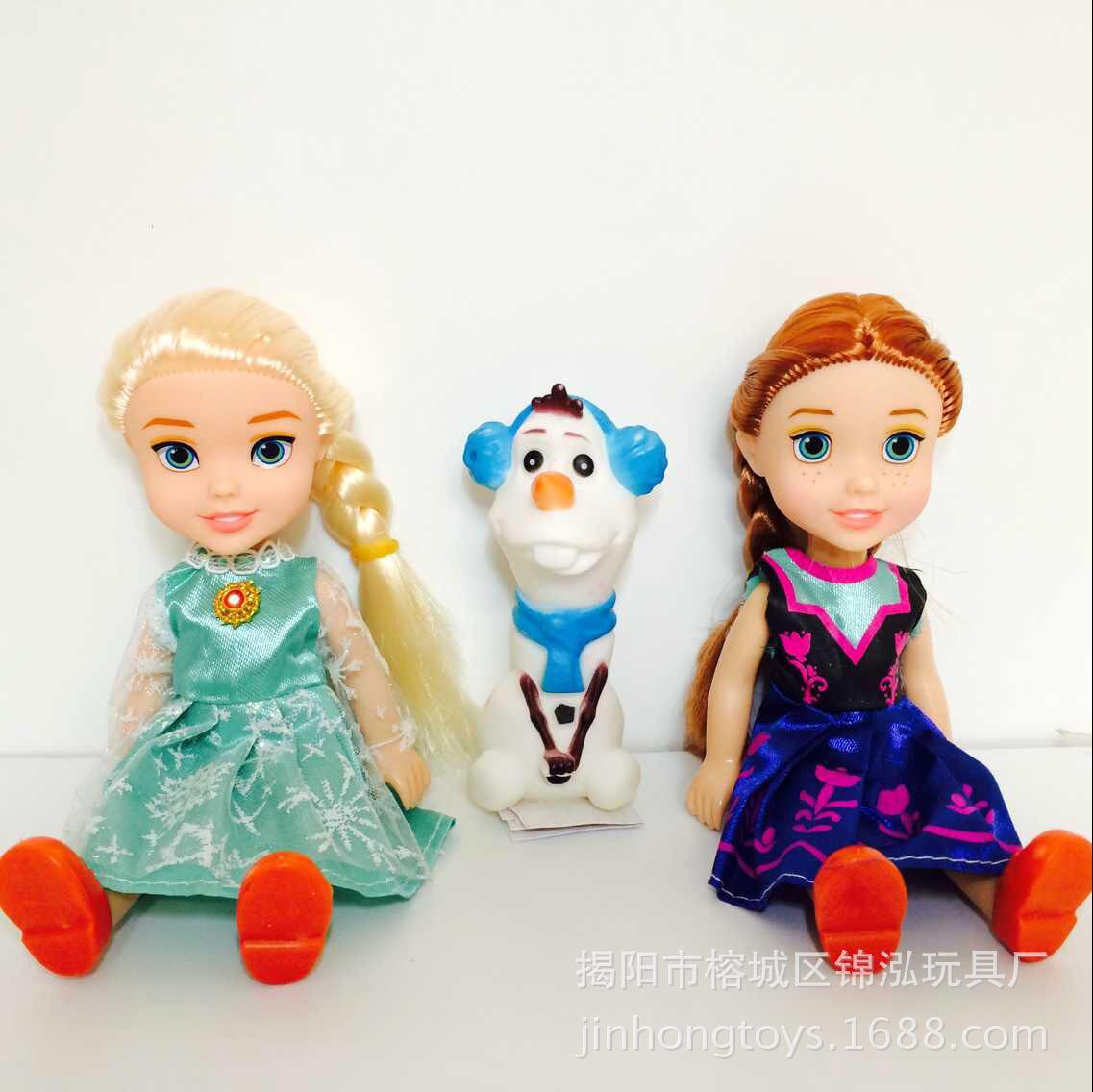 芭比娃娃 冰雪奇缘大冒险 冰雪公主娃娃 安娜艾莎套装 速卖通爆款