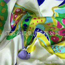18mm 斜纹绸 门幅140cm 真丝服装围巾面料 数码印花加工
