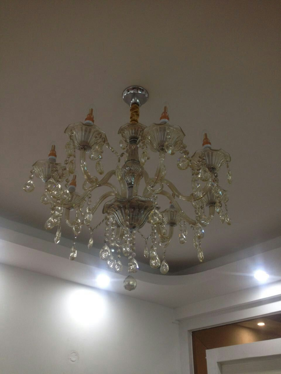 水晶灯灯头_led客厅欧式水晶灯
