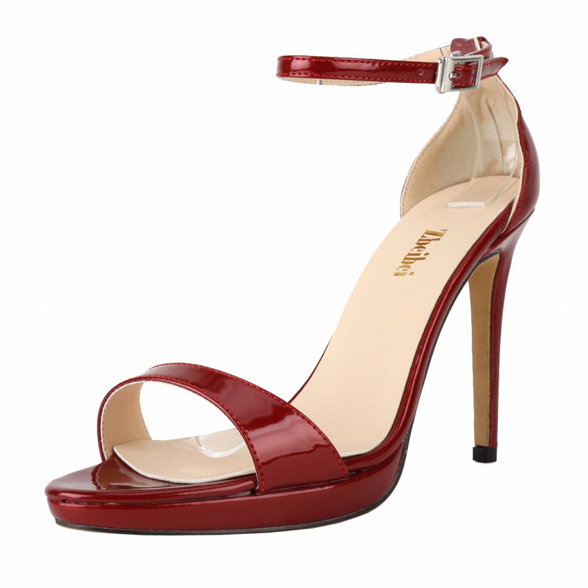 2016 size big new high heel sandals in Europe and the United States in Europe and the United States new style candy colo's main photo