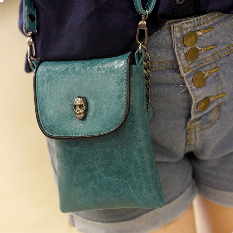外贸爆款手机包新款迷你小包韩版女链条斜跨包零钱包时尚骷头小包