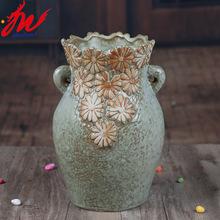 出口欧美欧式手绘捏花多肉花盆简约盆栽礼品创意花插家居装