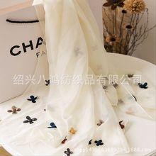 2015新款雪纺印花围巾 夏季雪纺沙滩巾披肩女士超长防晒丝