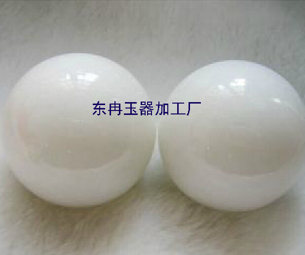 天然汉白玉健身手球批发 玉石保健球批发 52MM