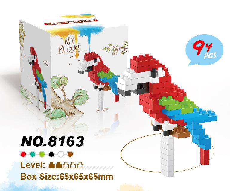 新款迷你动物积木 猫头鹰8153 3合1微颗粒钻石积木 益智玩具批发