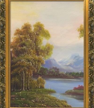 有框欧式装饰画古典油画风景实木外框竖幅20款画心可选厂家直销