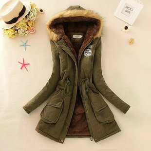 2015 winter thick coat big yards long section padded hooded fur collar cashmere wool coat female drawstring wholesale