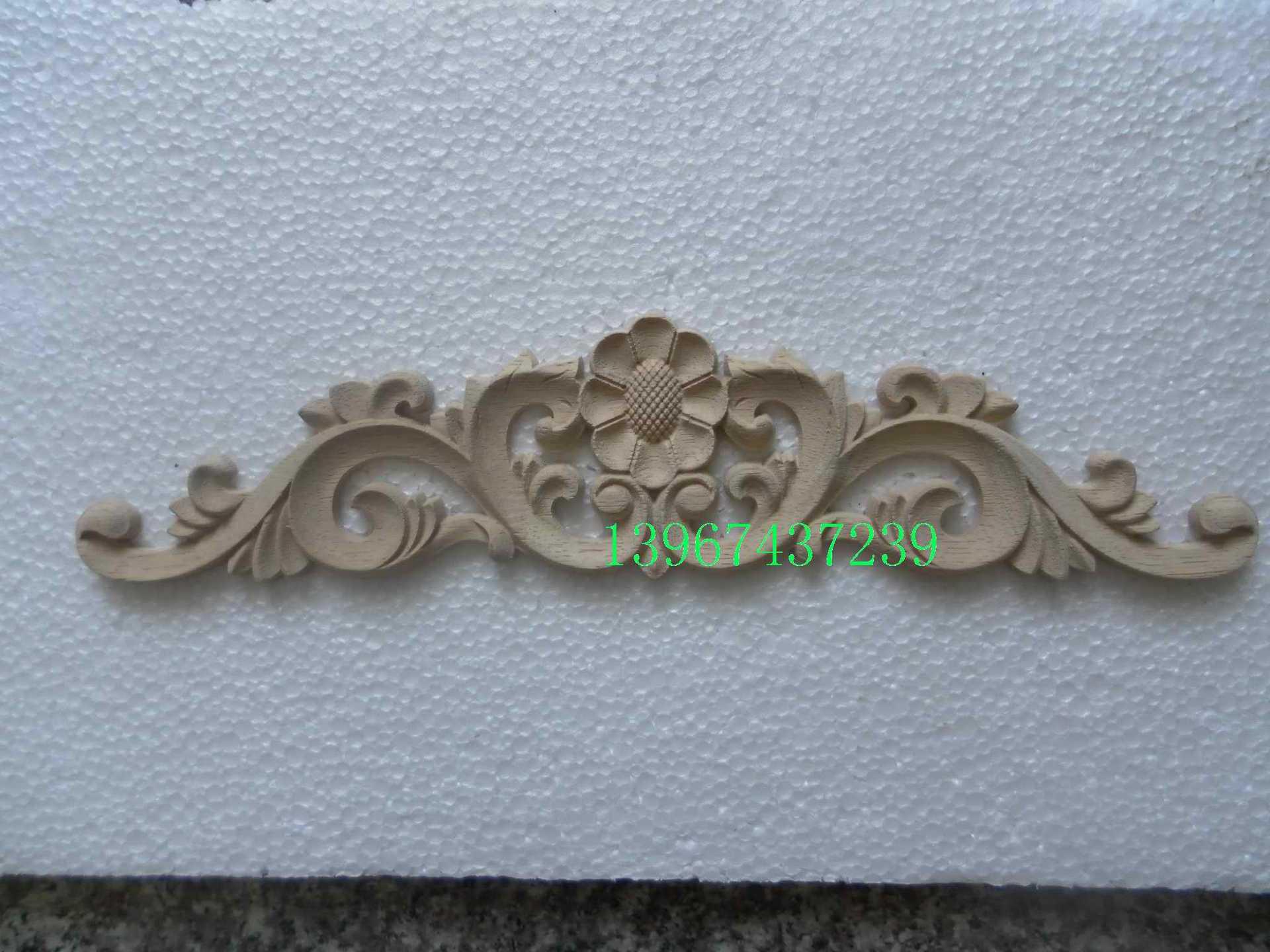东阳木雕实木花片欧式家具橱柜门装饰房门贴花沙发