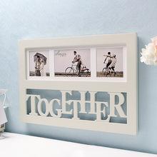 创意相框 欧式 结婚照 架壁挂 实木组合 毕业生日礼物 6寸 字母