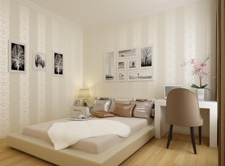 电视背景墙_家装简约欧式壁纸