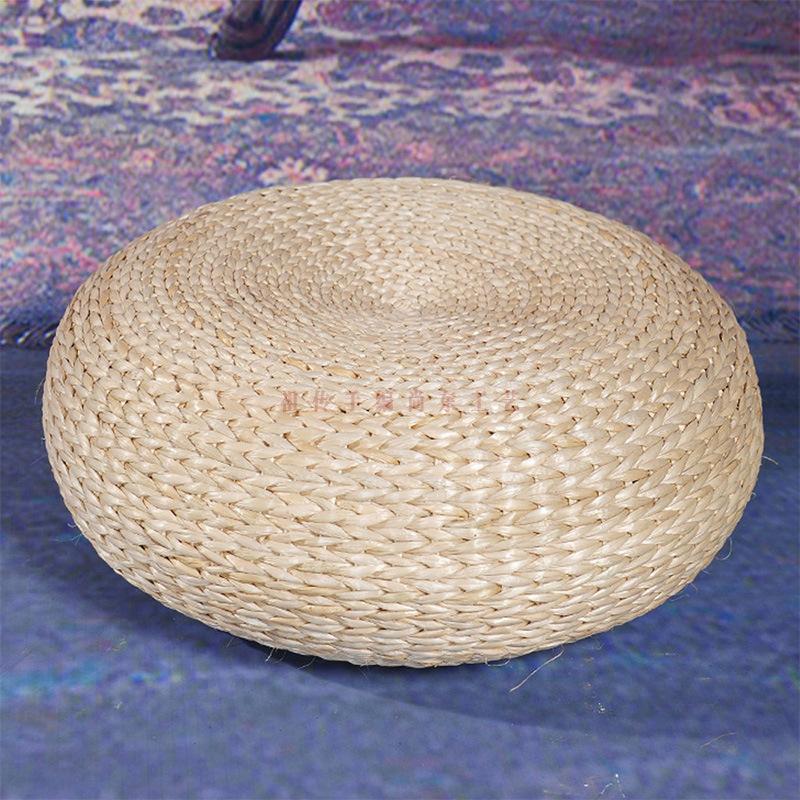 纯手工编织玉米蒲草芭蕉叶飘窗榻榻米日韩式加厚草编圆形蒲团坐垫