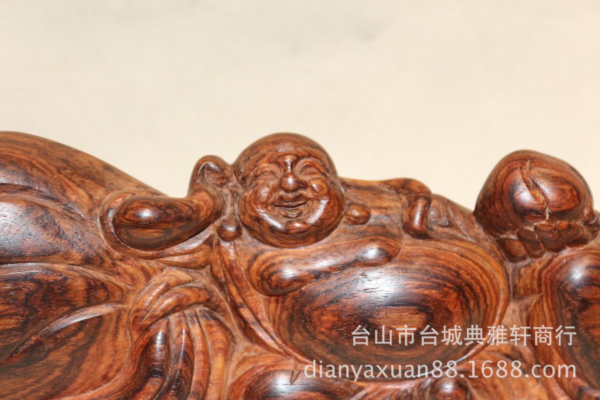 木雕工艺品_越南黄花梨弥勒