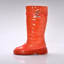新品童鞋 2015新款时尚休闲鞋子中筒pu大底保暖雪地靴厂家