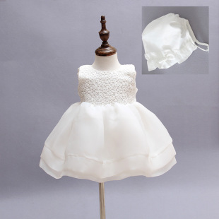 Upscale baby child marriage of girls under the age of full moon feast dress wedding dress skirt dress baby full moon