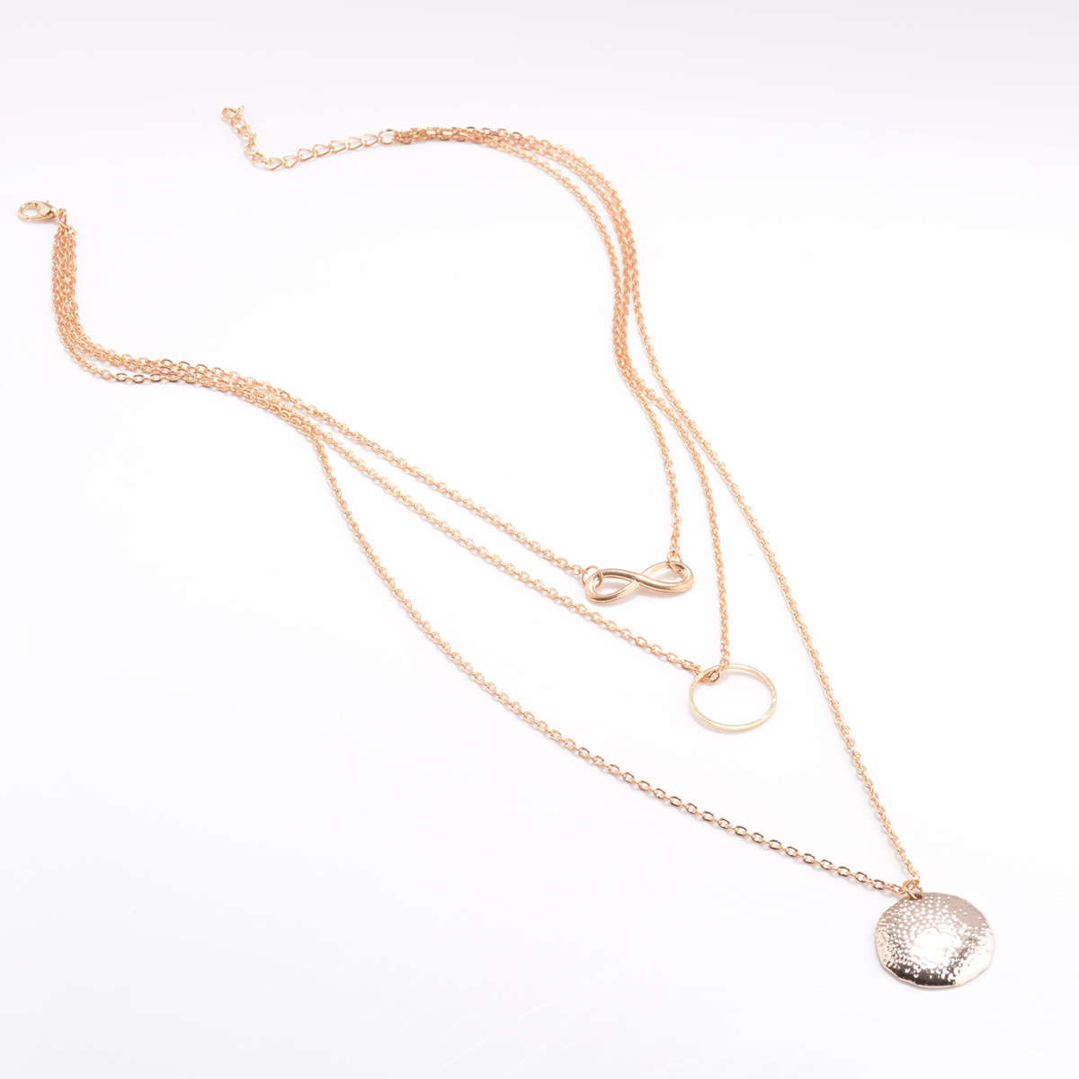 Retro alloy plating necklace ( gold ) NHXR0336