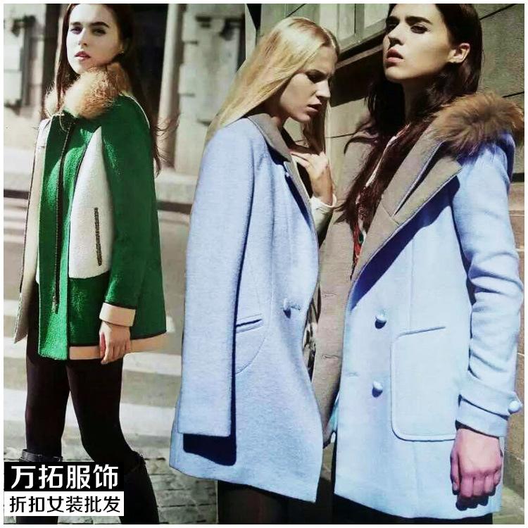 迪笛欧杭州知名品牌 一手货源冬季欧版时尚大气女装库存批扣批发