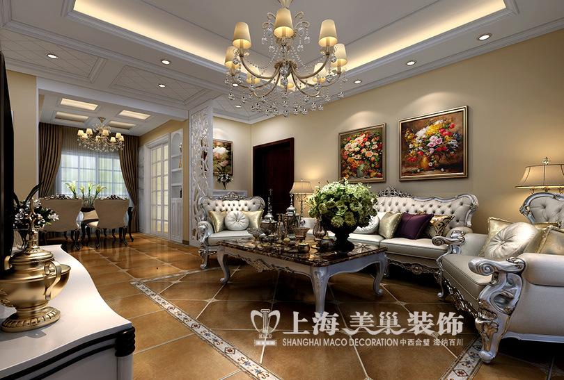 福安moma两室两厅103平简欧风格装修效果图图片