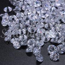 4-16mm白色圓形水晶鋯裸石 diy飾品配件廠家批發