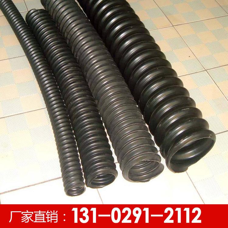 河北PE碳素波紋管110碳素螺旋管穿線通信用黑色螺旋波紋管