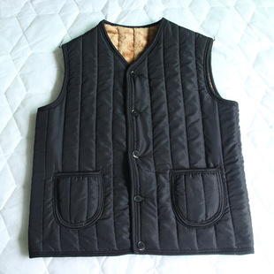 Middle-aged men's vest manufacturers wholesale loose cotton hooded vest no thicker middle-aged men's cotton vest