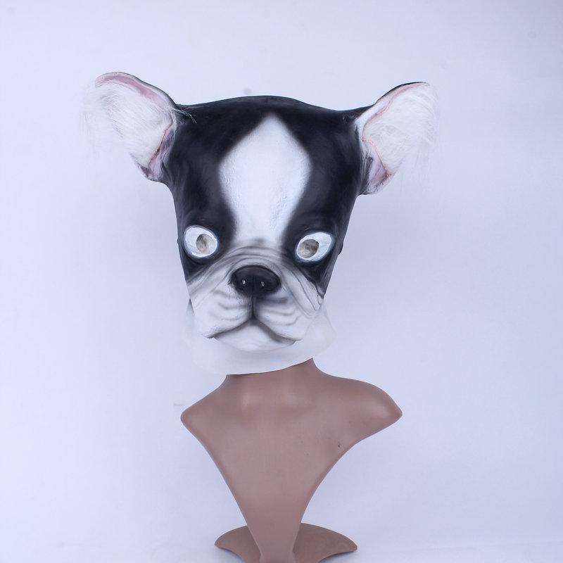 卡通动物帽万圣节搞怪装扮猫帽子乳胶动物黑白头套小花猫面具