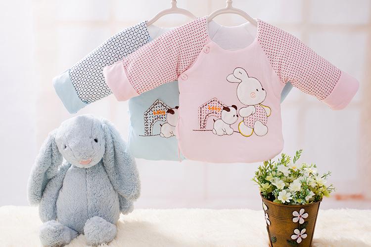 婴儿棉服宝宝棉衣初生婴幼儿衣服小宝宝棉衣一件代发半背衣漏背衣