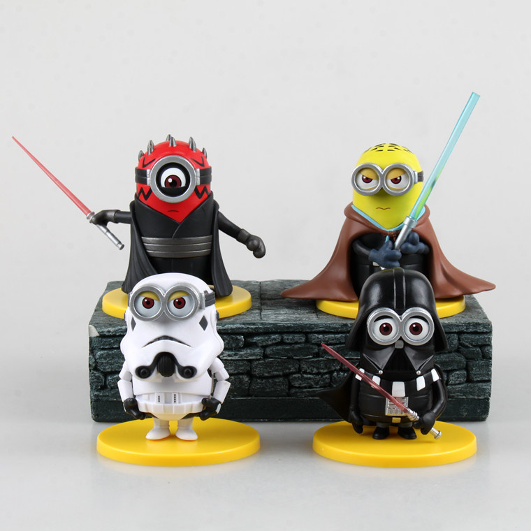 2019 Star Wars Action Figures 4 Minions Figures Star Wars R2 D2 Yoda