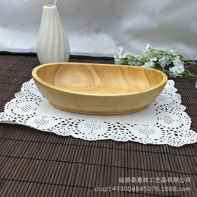阿里爆款 外贸原单木质船形碟子 出口餐具日式椭圆船型饼干碟供应