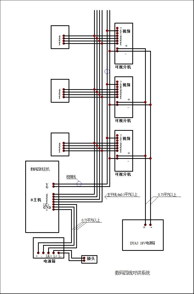耀达楼宇可视对讲系统门铃数码四线7寸彩色室内分机门铃msvf7(k)