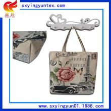 玫瑰與鐵塔 歐美復古購物袋 廠家直銷媽咪袋 來樣定做淘寶批發