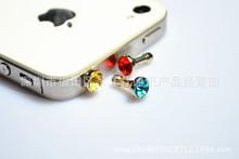 促销新款 3.5耳机防尘塞 创意防尘塞 树脂防尘塞 水钻新品防尘塞