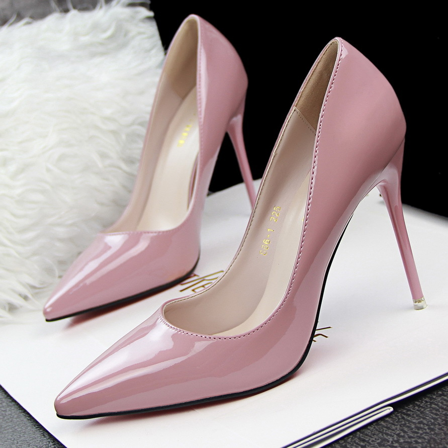 OL vocational ultra-high shallow mouth pointed sexy show shoes's main photo