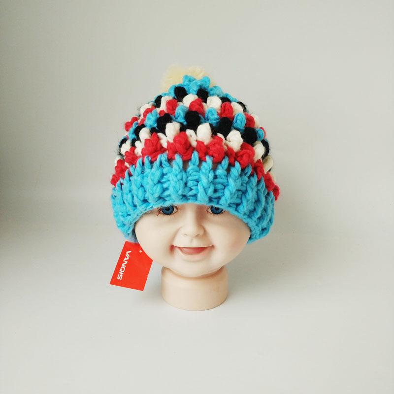 秋春帽子手工编织儿童春帽 春天儿童新款针