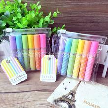 爱好新款6410迷你荧光笔6色套装记号笔彩色划重点笔标记笔 涂鸦笔