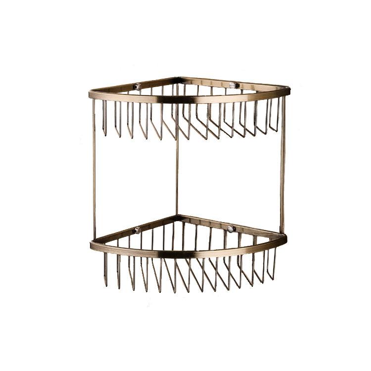 欧式仿古不锈钢双层网篮