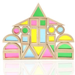 High quality grade brand british award-winning buliding blocks super creative blocks acrylic rainbow blocks pile tower t