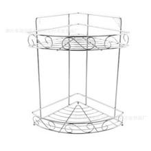 双层不锈钢置物架厨房浴室转角架调味调料架收纳架三角架壁
