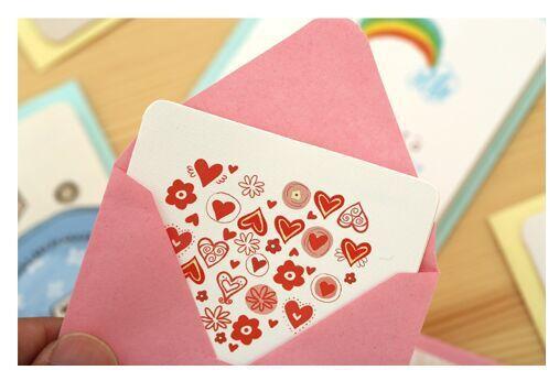 手绘贺卡批发 韩国创意生日祝福小卡片 迷你感谢卡新年圣诞节贺卡