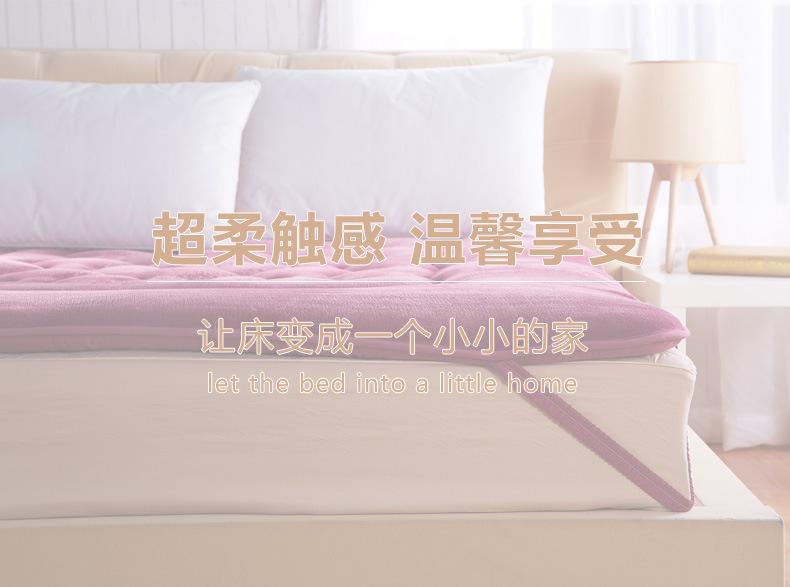 批发加厚法莱绒珊瑚绒床垫 学生宿舍海绵床垫子可折叠床垫 代发