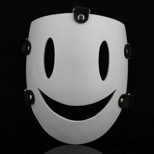 版cos白色笑脸角色天空侵犯动漫狙击手高档树脂面具